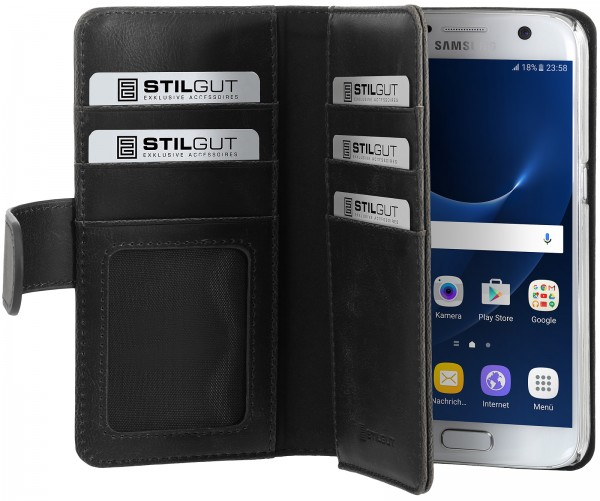 StilGut - Samsung Galaxy S7 cover Talis XL with card holder