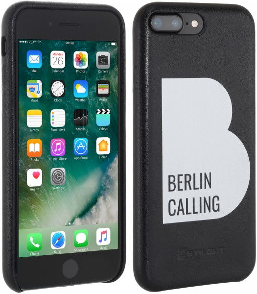 StilGut - iPhone 7 Plus Cover Berlin Calling in Leather - Like Berlin Edition