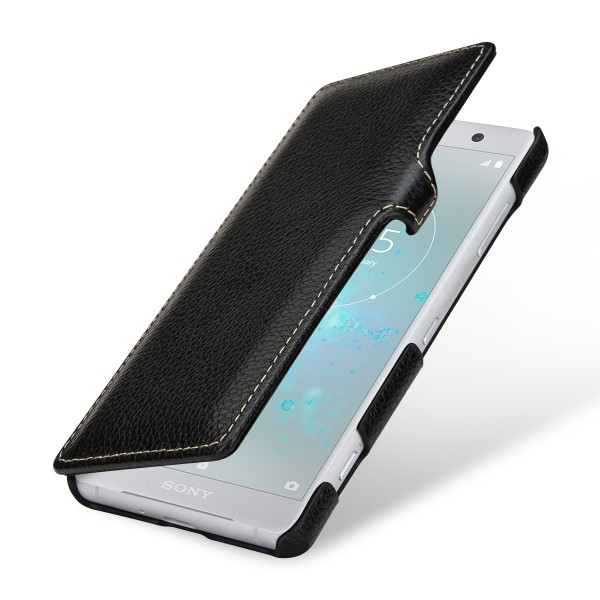StilGut - Sony Xperia XZ2 Compact Cover Book Type with Clip