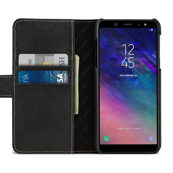 StilGut - Samsung Galaxy A6 (2018) Cover Talis with Card Holder