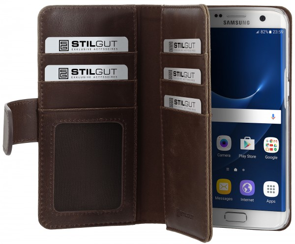 StilGut - Samsung Galaxy S7 edge cover Talis XL in leather with card holder