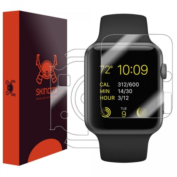 Skinomi - Screen protector for Apple Watch 38 mm (back and front sides) TechSkin