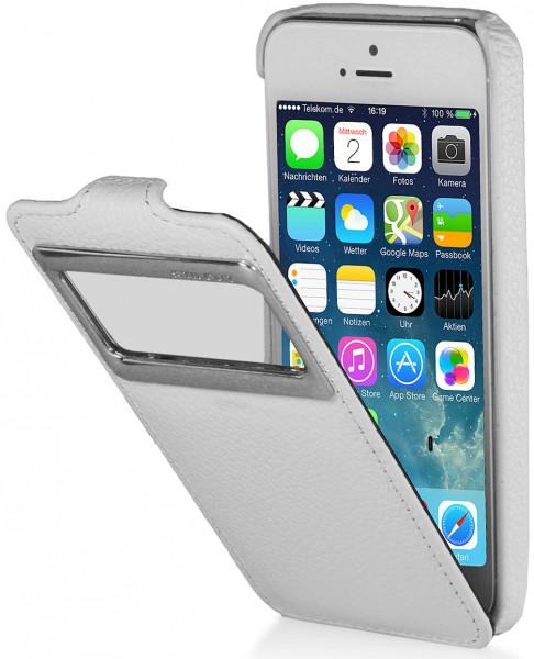 StilGut - Leather case with window (iOS 7) for iPhone 5 & iPhone 5s