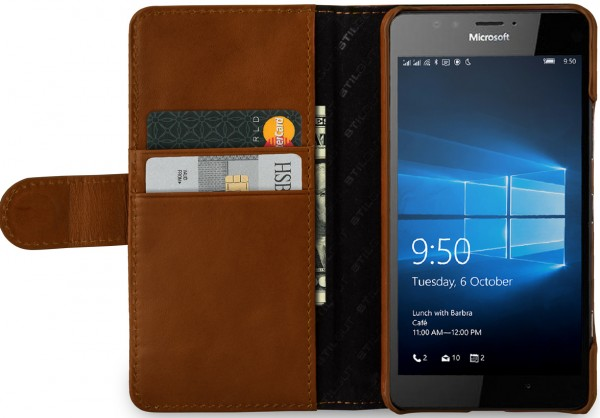 StilGut - Lumia 950 cover Talis in leather with card holder