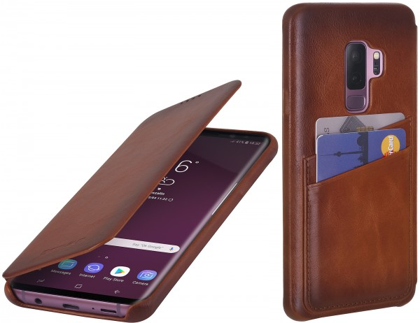 StilGut - Samsung Galaxy S9+ Cover Book Type with Card Holder