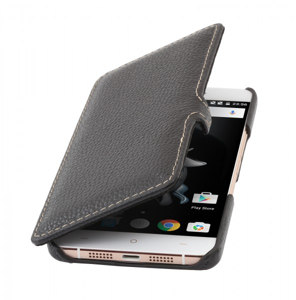 StilGut - OnePlus X cover Book Type in leather with clip