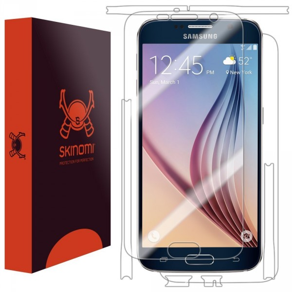 Skinomi - Screen protector for Galaxy S6 TechSkin back and front sides