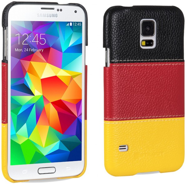 "StilGut - Leather cover ""German Edition"" for Samsung Galaxy S5"