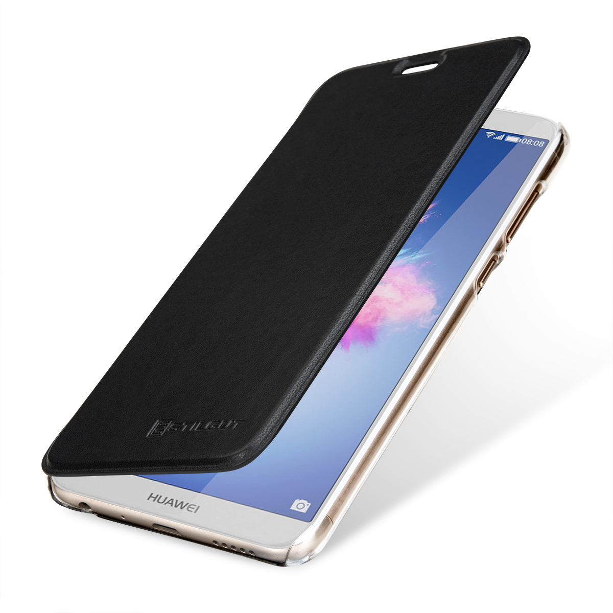 the best attitude 2b505 5345e StilGut - Huawei P smart Book Type NFC/RFID Blocking Case