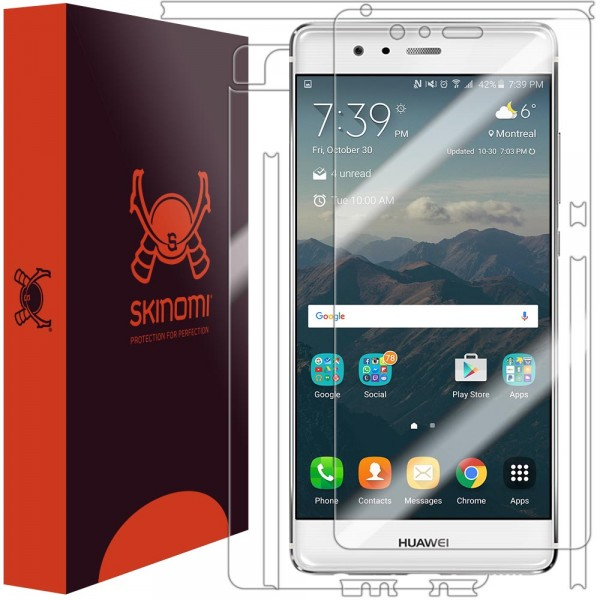 Skinomi - Huawei P9 screen protector TechSkin back and front sides