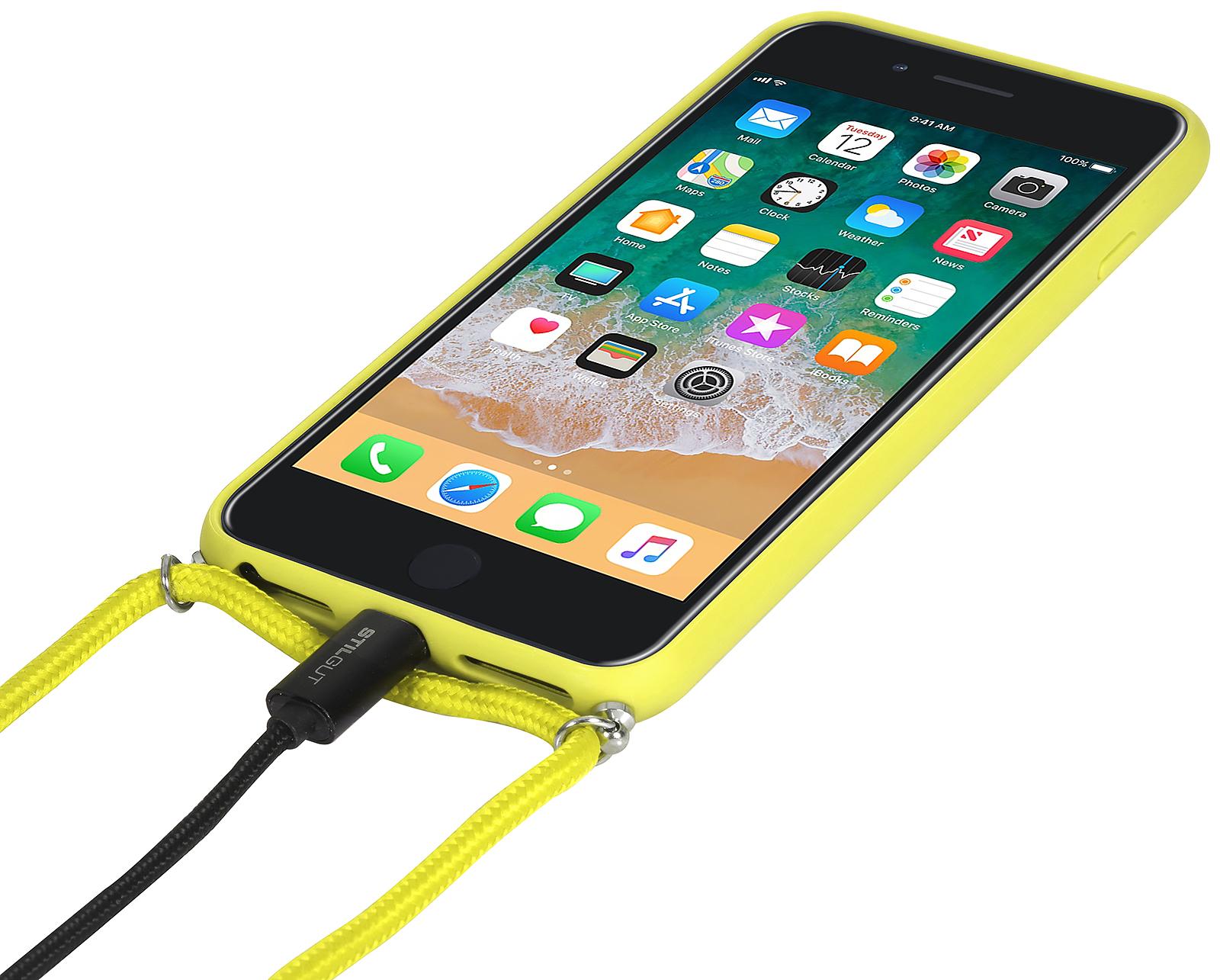 premium selection 73125 44b0d StilGut - iPhone 7 Plus Lanyard Case with Leather