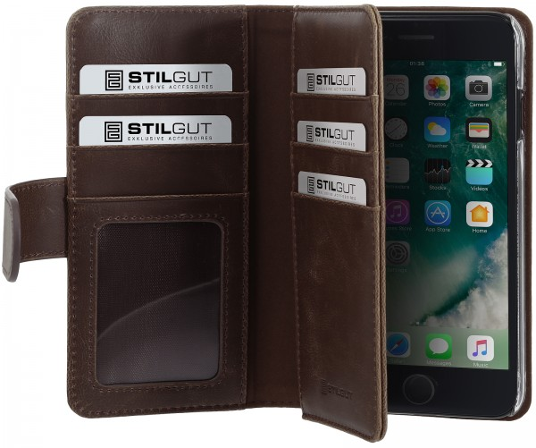 StilGut - iPhone 8 Cover Talis XL with Card Holder