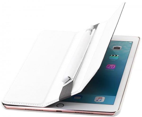 "StilGut - iPad Pro 9.7"" case Couverture in leather with pencil holder"