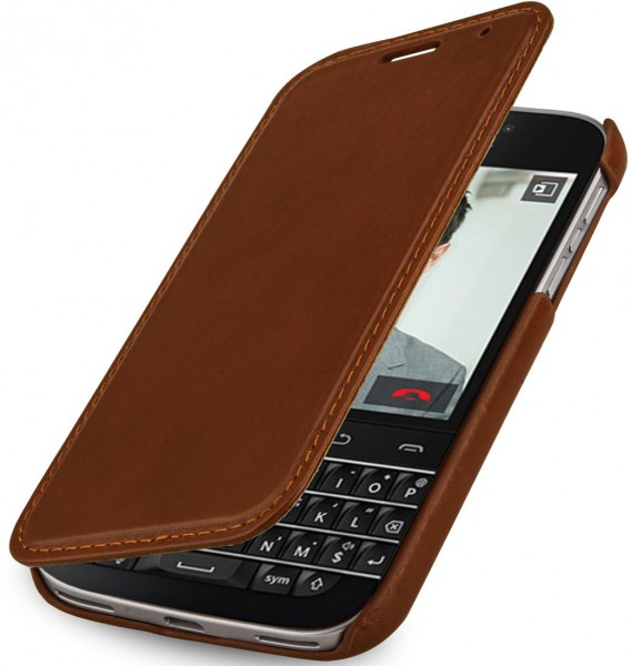 "StilGut - BlackBerry Classic Q20 leather case ""Book Type"" without clip"