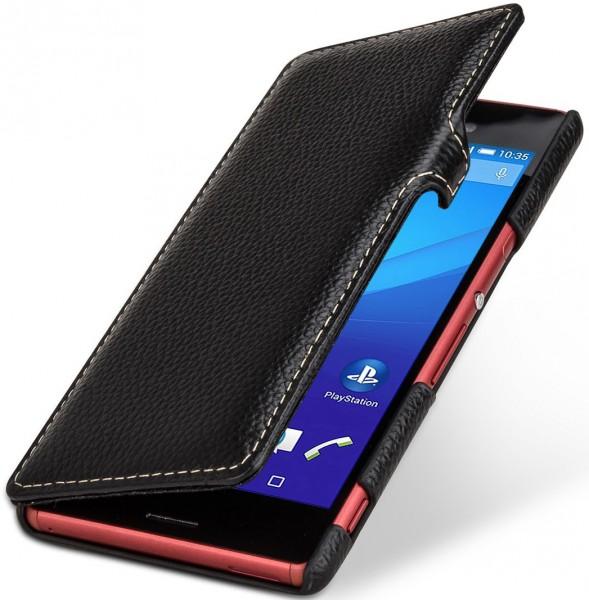 "StilGut - Xperia M4 Aqua leather case ""Book Type"" with clip"