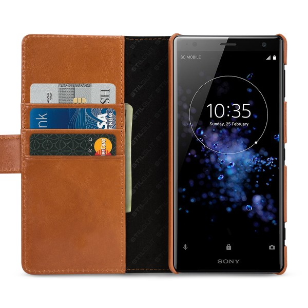 StilGut - Sony Xperia XZ2 Cover Talis with Card Holder