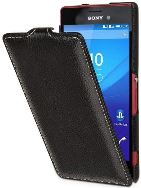 "StilGut - Sony Xperia M4 Aqua leather case ""UltraSlim"""