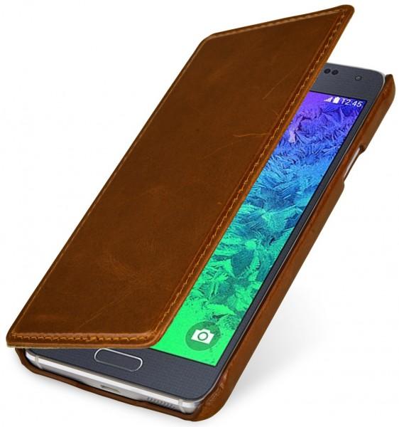 "StilGut - Samsung Galaxy Alpha leather case, ""Book Type"""