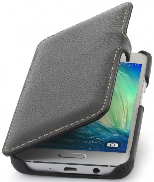 "StilGut - Galaxy A3 leather case ""Book Type"" with clip"