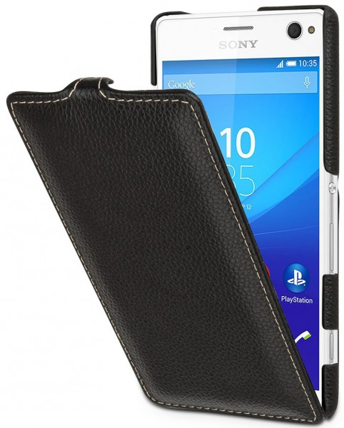 "StilGut - Sony Xperia C4 leather case ""UltraSlim"""