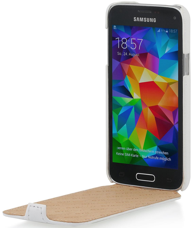 Samsung Galaxy S5 Mini Sim Karte.Stilgut Galaxy S5 Mini Leather Case Ultraslim