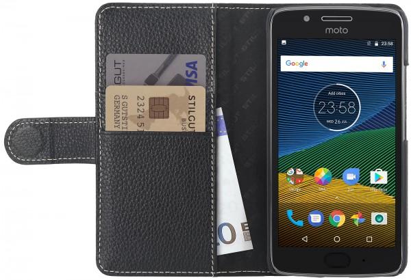 StilGut - Moto G5 Plus Cover Talis with Card Holder