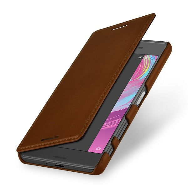 huge selection of 9d59a 63a26 StilGut - Sony Xperia X cover Book Type in leather without clip
