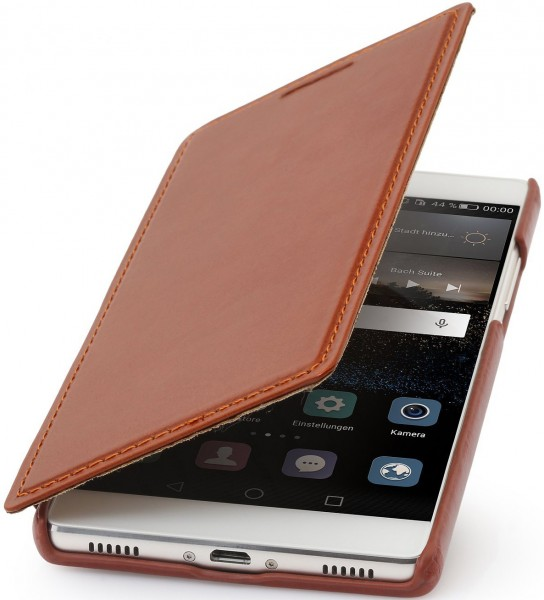 "StilGut - Huawei P8 leather case ""Book Type"" without clip"