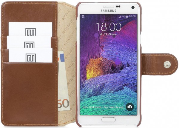 "StilGut - Samsung Galaxy Note 4 leather case, ""Talis"""
