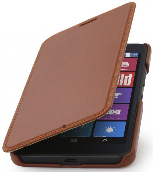 """StilGut - Lumia 640 XL leather case """"Book Type"""" without clip"""