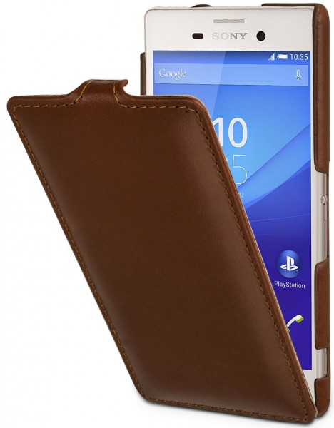 "StilGut - Sony Xperia M4 Aqua leather case ""UltraSlim"""