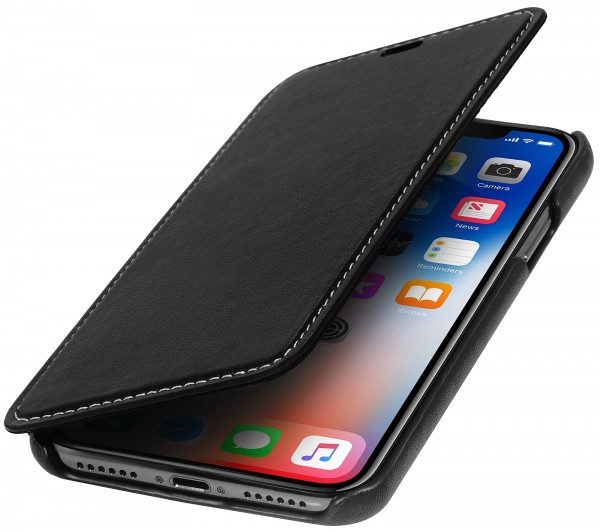 StilGut - iPhone X Cover Book Type without Clip