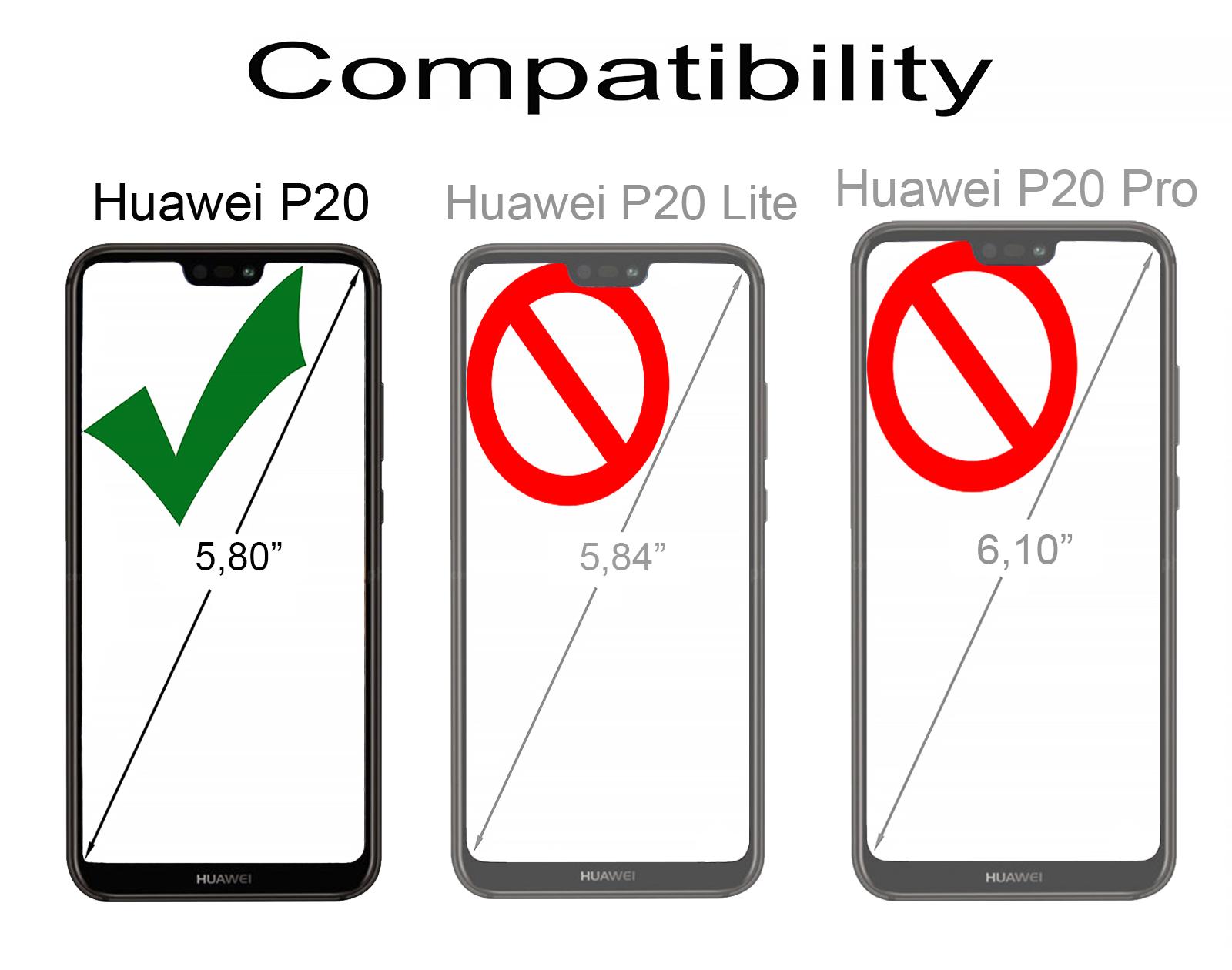 StilGut - Huawei P20 Book Type NFC/RFID Blocking Case
