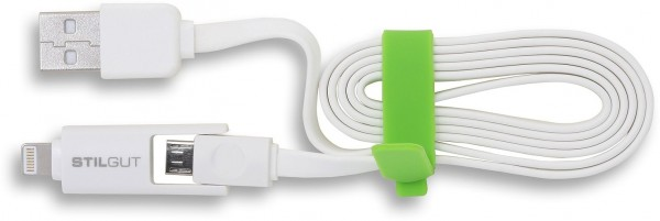 StilGut - Magic-Twin-Lightning / micro USB Sync and charging cable