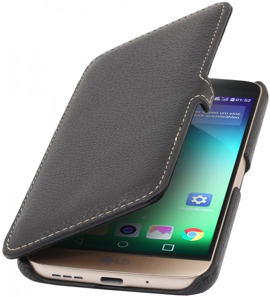 StilGut - LG G5 cover Book Type in leather with clip