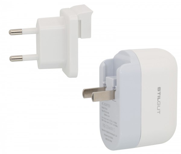 StilGut - Travel Charger, 2 in 1 Adapter USA/EU