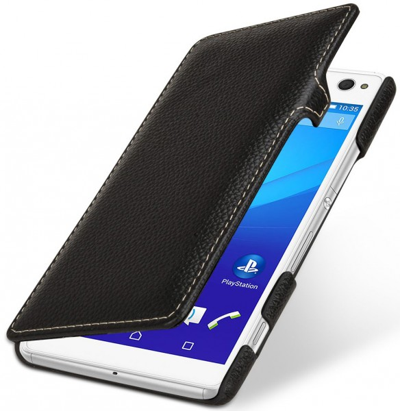 "StilGut - Xperia C4 leather case ""Book Type"" with clip"