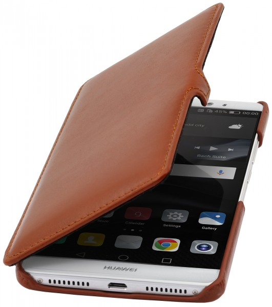 StilGut - Huawei Mate 8 cover Book Type in leather with clip