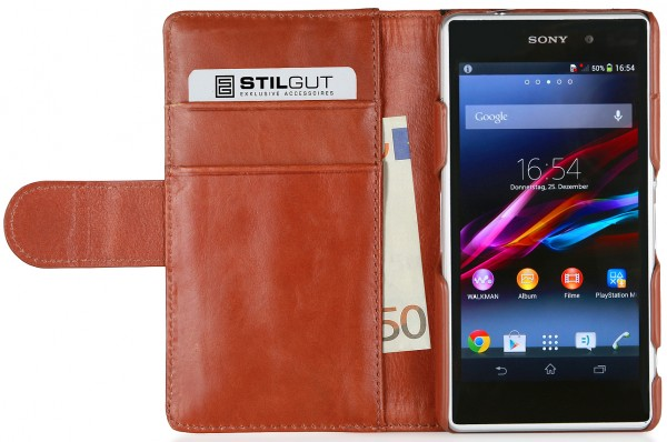 StilGut - Leather case Talis, Fashion collection for Xperia Z1 Compact