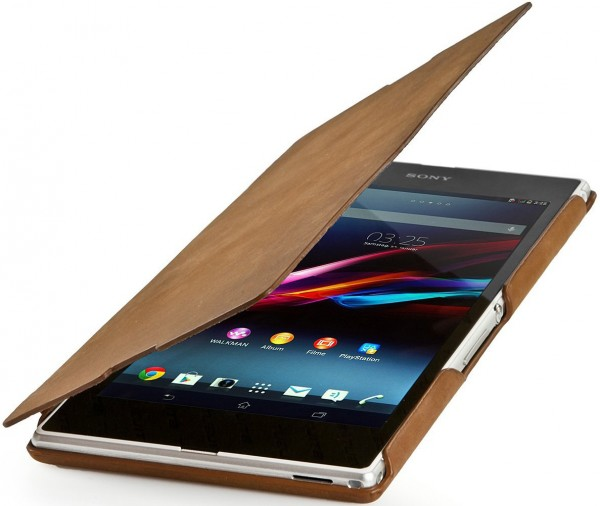 """StilGut - Leather Case """"Book Type"""" for Sony Xperia Z Ultra XL39h"""