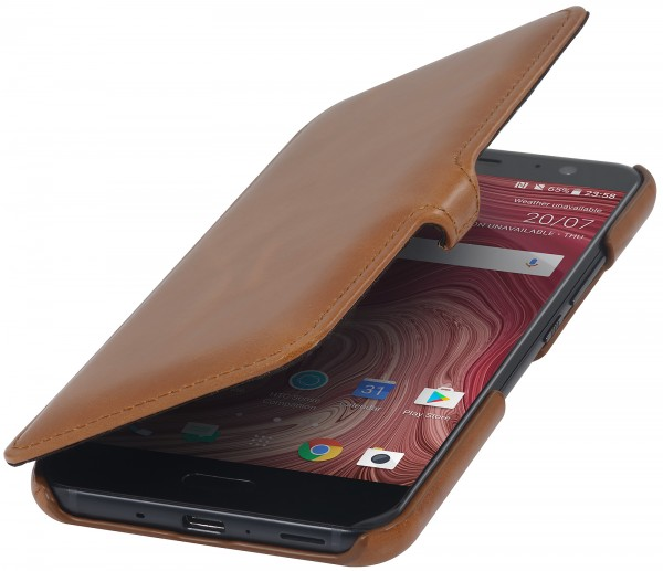 StilGut - HTC U 11 Cover Book Type with Clip