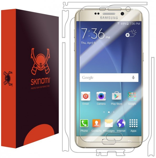 Skinomi - Screen protector for Galaxy S6 edge+ TechSkin back and front sides