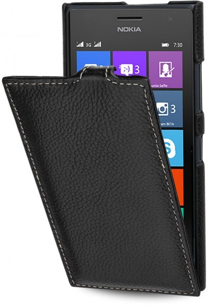 "StilGut - Nokia Lumia 730 and Lumia 735 leather case, ""UltraSlim"""