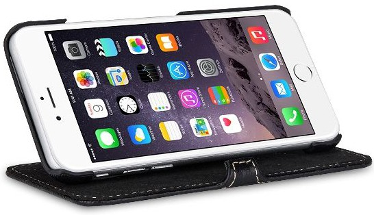 """StilGut - iPhone 6 case, """"Book Type"""" with stand function"""