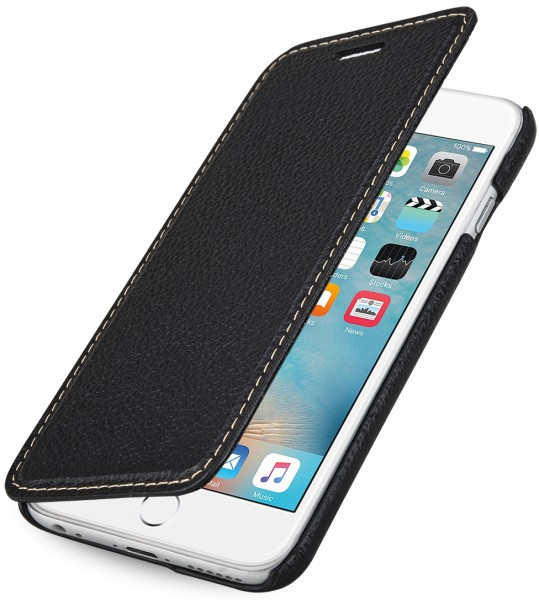 """StilGut - iPhone 6s leather case """"Book Type"""" without clip"""