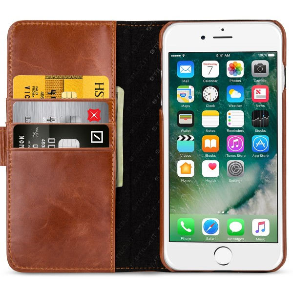 StilGut - iPhone 8 Plus Cover Talis with Card Holder