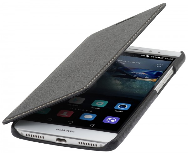 StilGut - Huawei Mate S cover Book Type in leather without clip