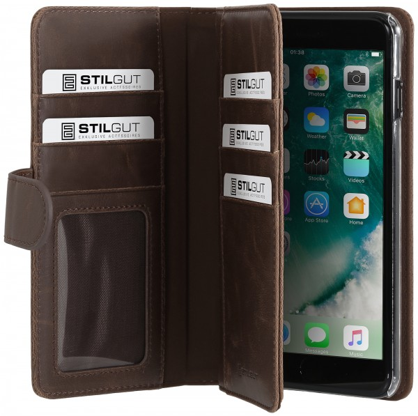 StilGut - iPhone 8 Plus Cover Talis XL with Card Holder