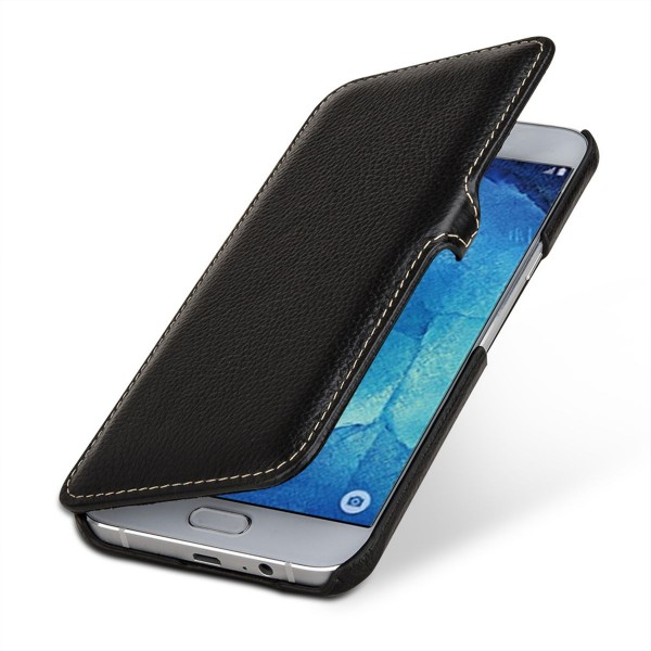 "StilGut - Galaxy A8 (2015) leather case ""Book Type"" with clip"