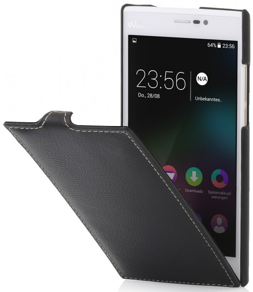 "StilGut - Wiko Ridge Fab 4G leather case ""UltraSlim"""